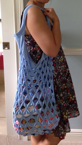 Upcycled Tshirt Market Bag (Easy and Super Low Sew!)