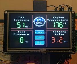 Vehicle Digital Gauge Display