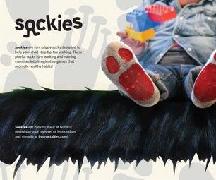 Sockies: DIY Tip-Toeing Prevention Socks