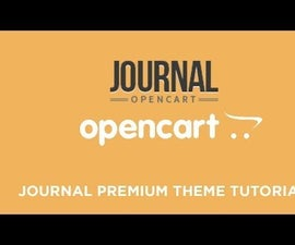 How to Use Journal OpenCart Theme to Build Online Store