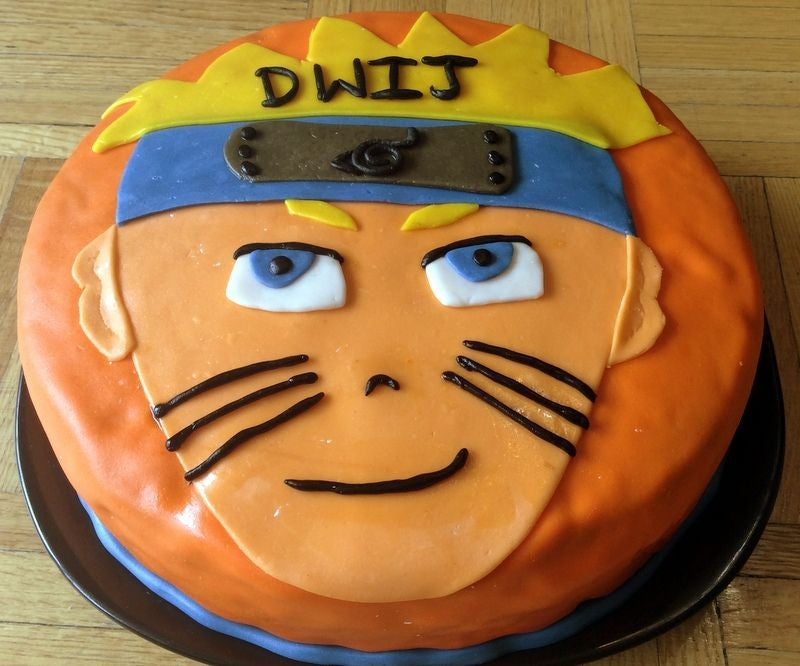 Superb Naruto Cake 7 Steps Instructables Personalised Birthday Cards Veneteletsinfo