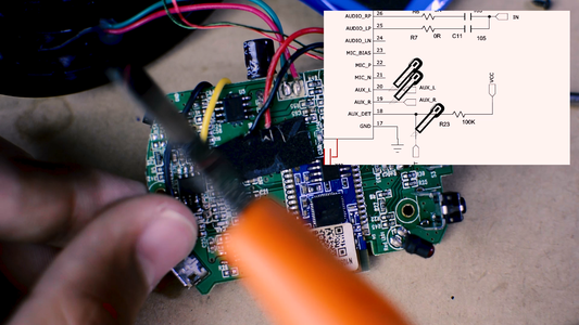 Isolate the Aux in Audio Jack: