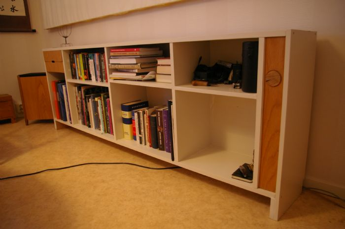 Picture of Ikea Hack - Billy Bookcase With Integrated Amplifier