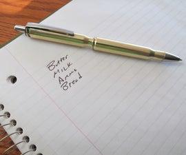 Make a Refillable Bullet Pen