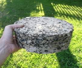 Paper + Sunflower Seed Husk Fuel Briquettes
