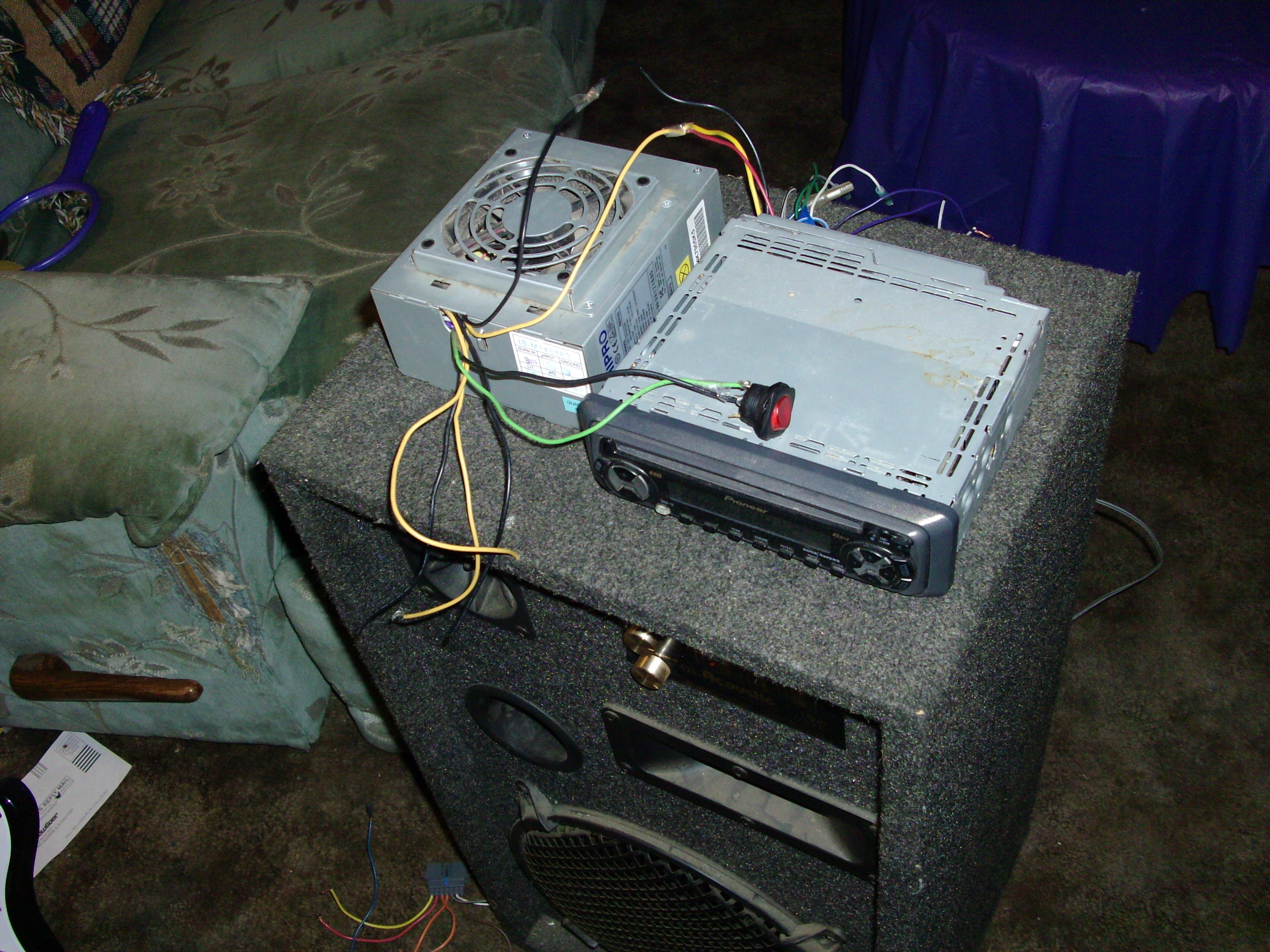 turn computer power supply into car audio : 4 steps - instructables  instructables