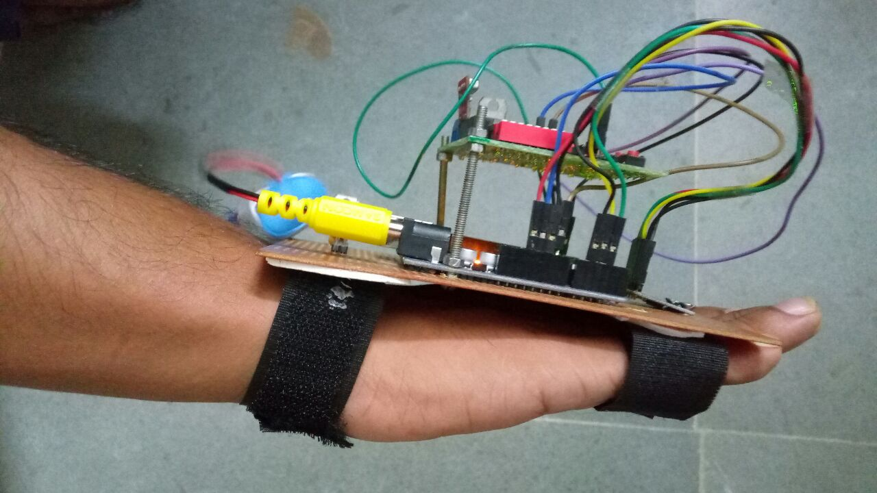 Picture of Different Gestures Using Accelerometer