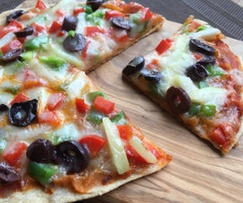 Whole Wheat Flat Bread Pizza Without Oven