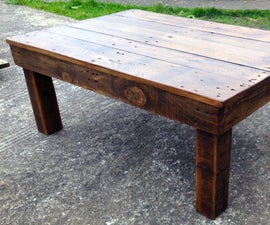 Making a Coffee Table from Reclaimed Pallet Wood