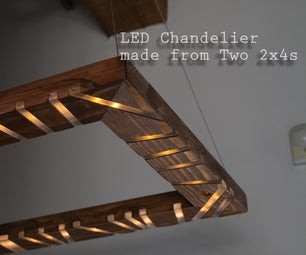 2x4 LED Chandelier With Music Reactive Lights