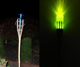 Safe Tiki torch / water bottle light!