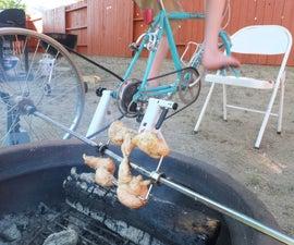 Bike-Powered Rotisserie Spit