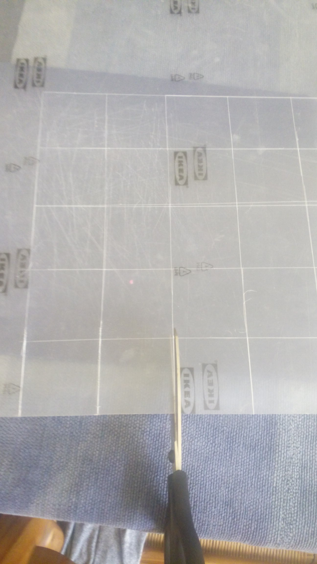 Picture of Cutting the Acrylic Squares