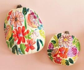 Floral Painted Pumpkins