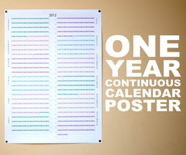 One Year Continuous Calendar Poster