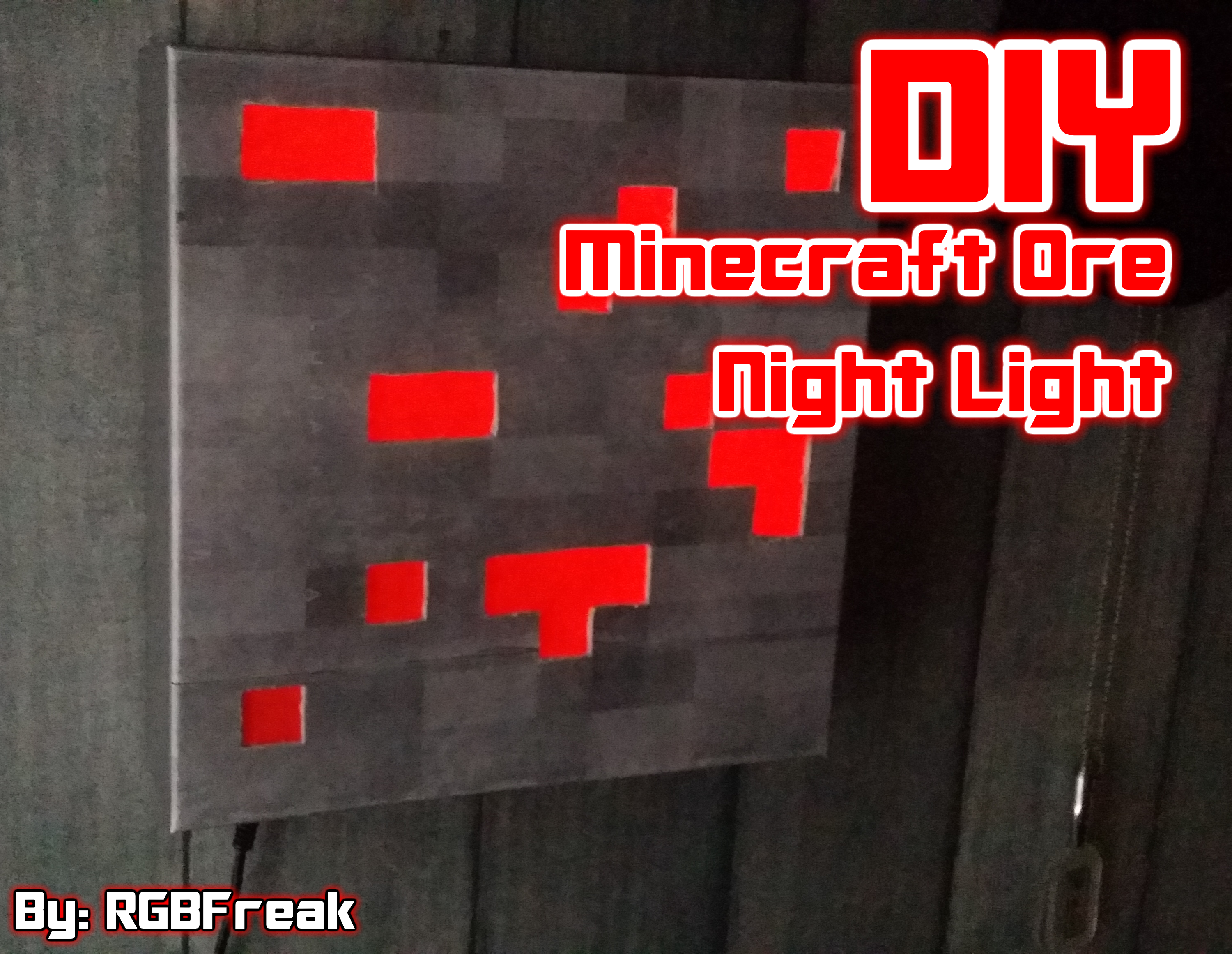 Picture of DIY | Minecraft Ore Night Light
