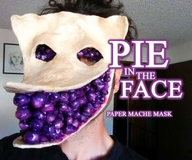 Pie in the Face Paper Mache Mask