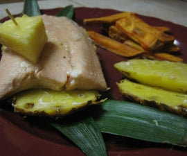 Pineapple-Wrapped Gingered Salmon