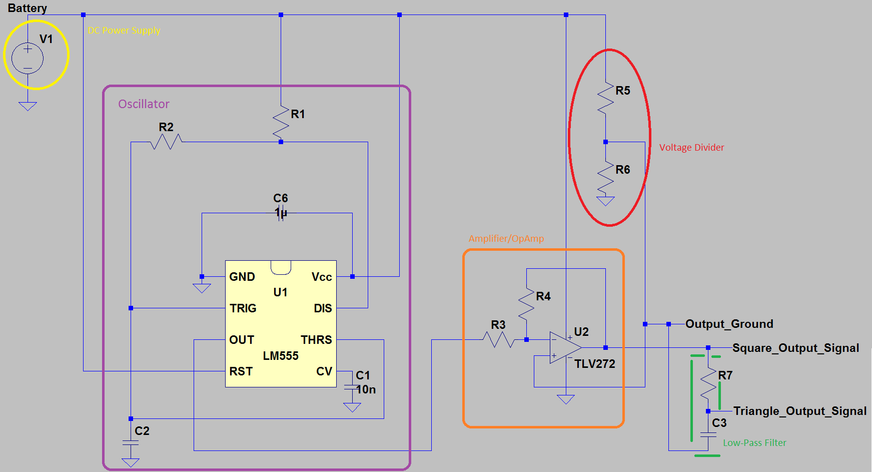 555 Frequency Generator Highpass Filter Circuit 555circuit Diagram Seekiccom How To Design A Square Or Triangle Wave Oscillator From Timer Integrated Steps