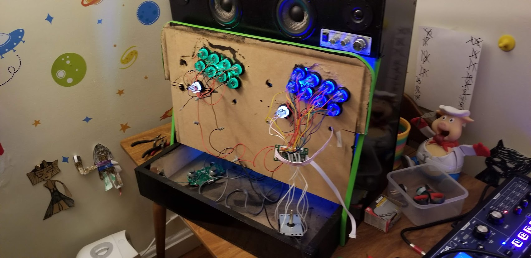 Picture of Install the Buttons in the Arcade Cabinet