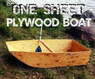 One Sheet Plywood Boat