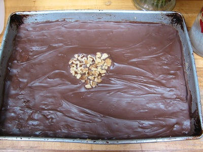 No Bake Upside Down Can't Get Enough Peanut Butter Cup in a Pan