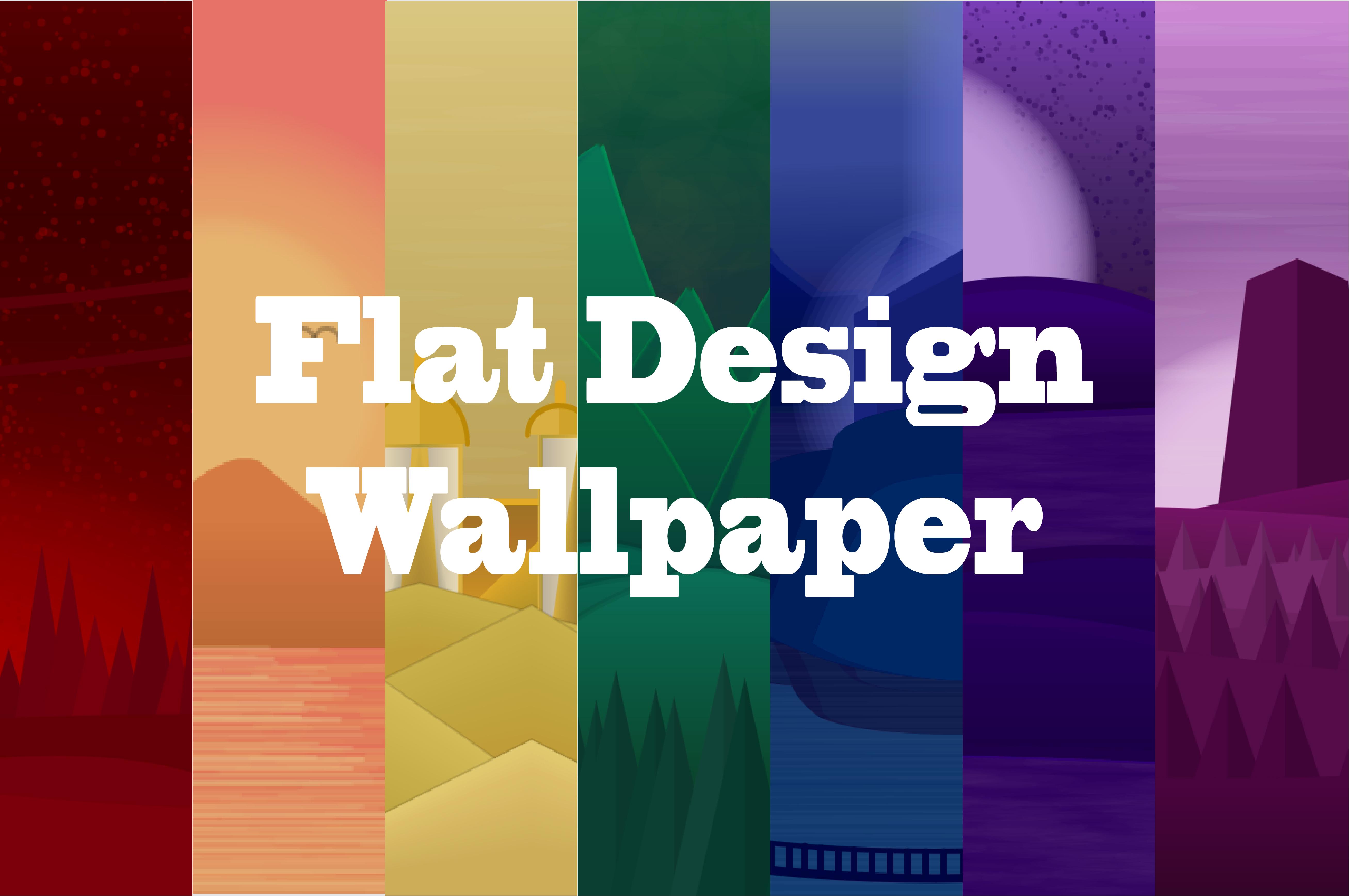 Picture of Monochromatic Flat Design Wallpaper