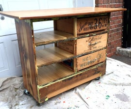 Ugly Dresser Turned Into Rustic Kitchen Island Cart