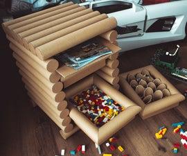 Cardboard Tube Cabinet