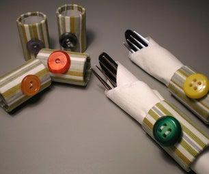 Fabric Napkin Rings / Servilleteros De Tela