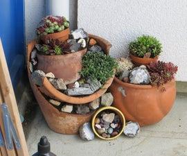 Flower Pot Rock Garden