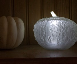 123D Catch Scanned and 3D Printed Mini Lit Pumpkins