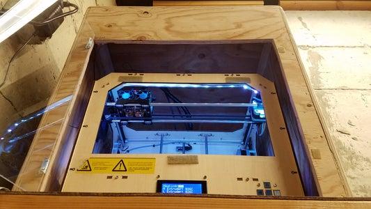 Inexpensive 3D Printer Fume Purification Enclosure