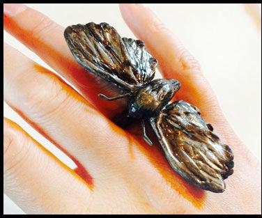 Sansa Moth Ring