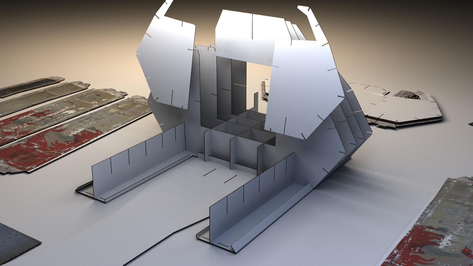 Picture of Fighter Jet Cockpit- Building of the Cockpit