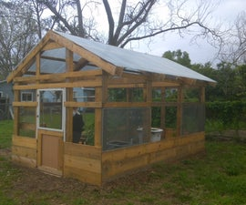 Turn crates into a greenhouse