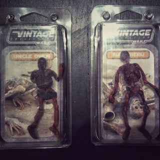 Custom Uncle Owen and Aunt Beru Star Wars Charred Body Figure.