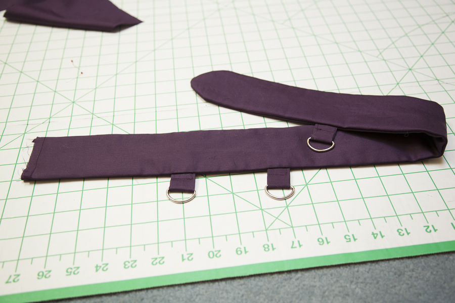 Picture of Attaching the D-ring Tabs and Sewing the Belt