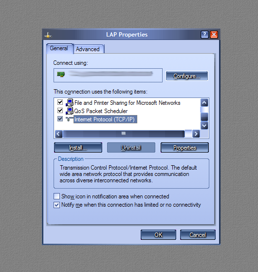 Picture of Config Your LAN Settings