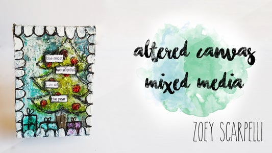 Mixed Media : Canvas Alteration for Christmas
