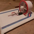 r/c racing hovercraft, 2 channel