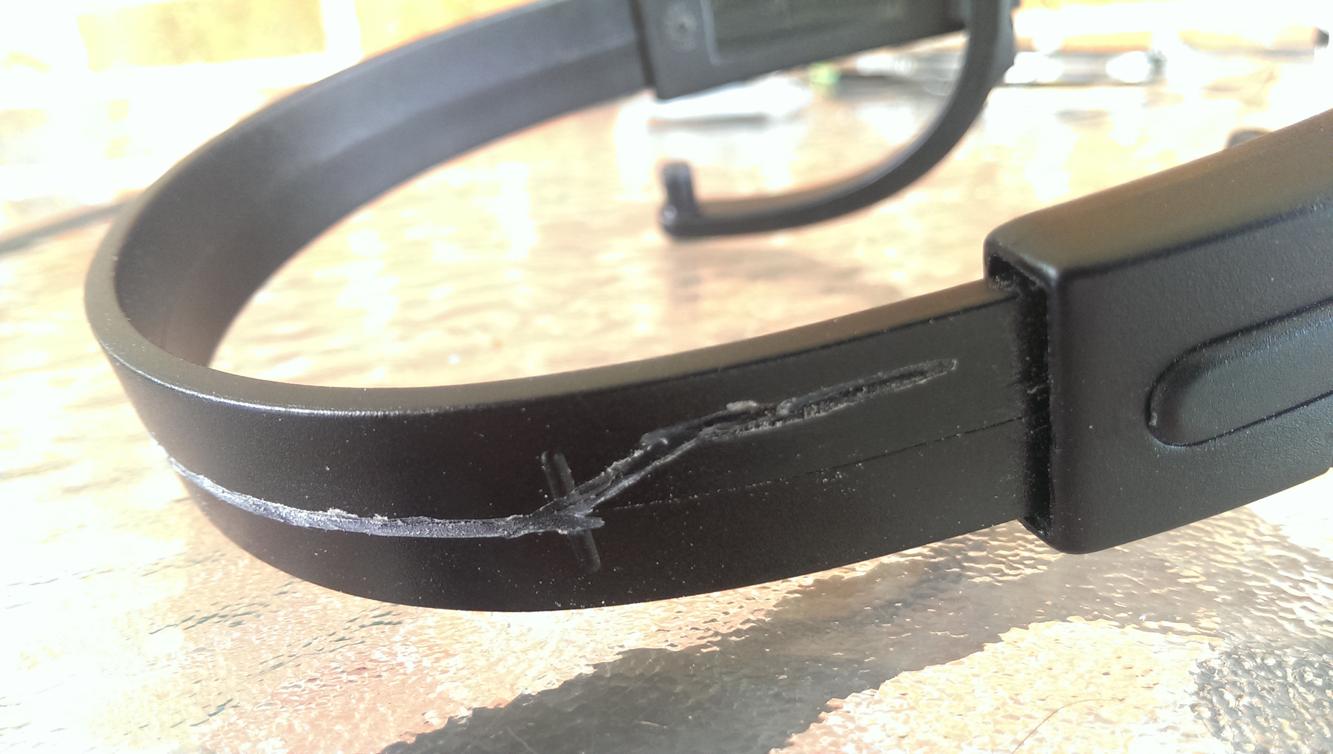 Picture of I Used a Rotary Tool on the Headband to Etch Out a Small Channel for the Speaker Wire.