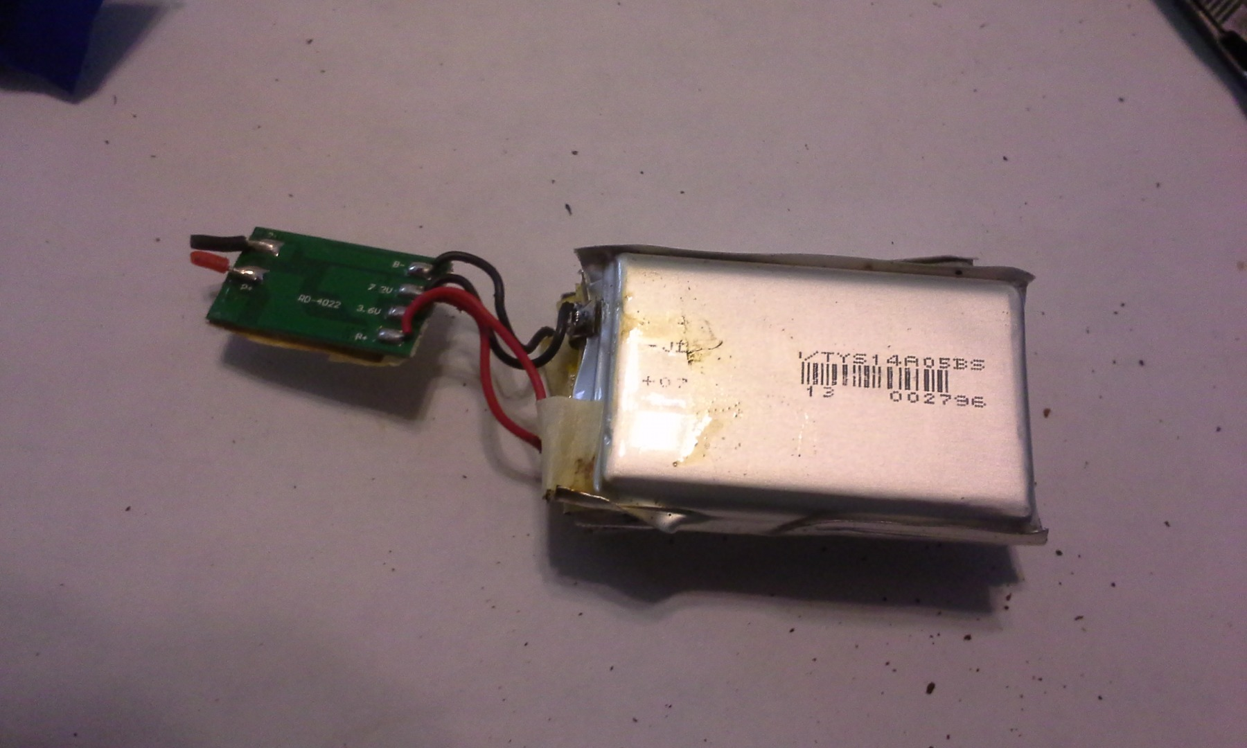Picture of Battery Pack Disassembly, Optional