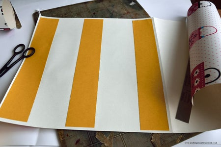Apply Strips of Double-sided Carpet Tape & Fold Paper Over