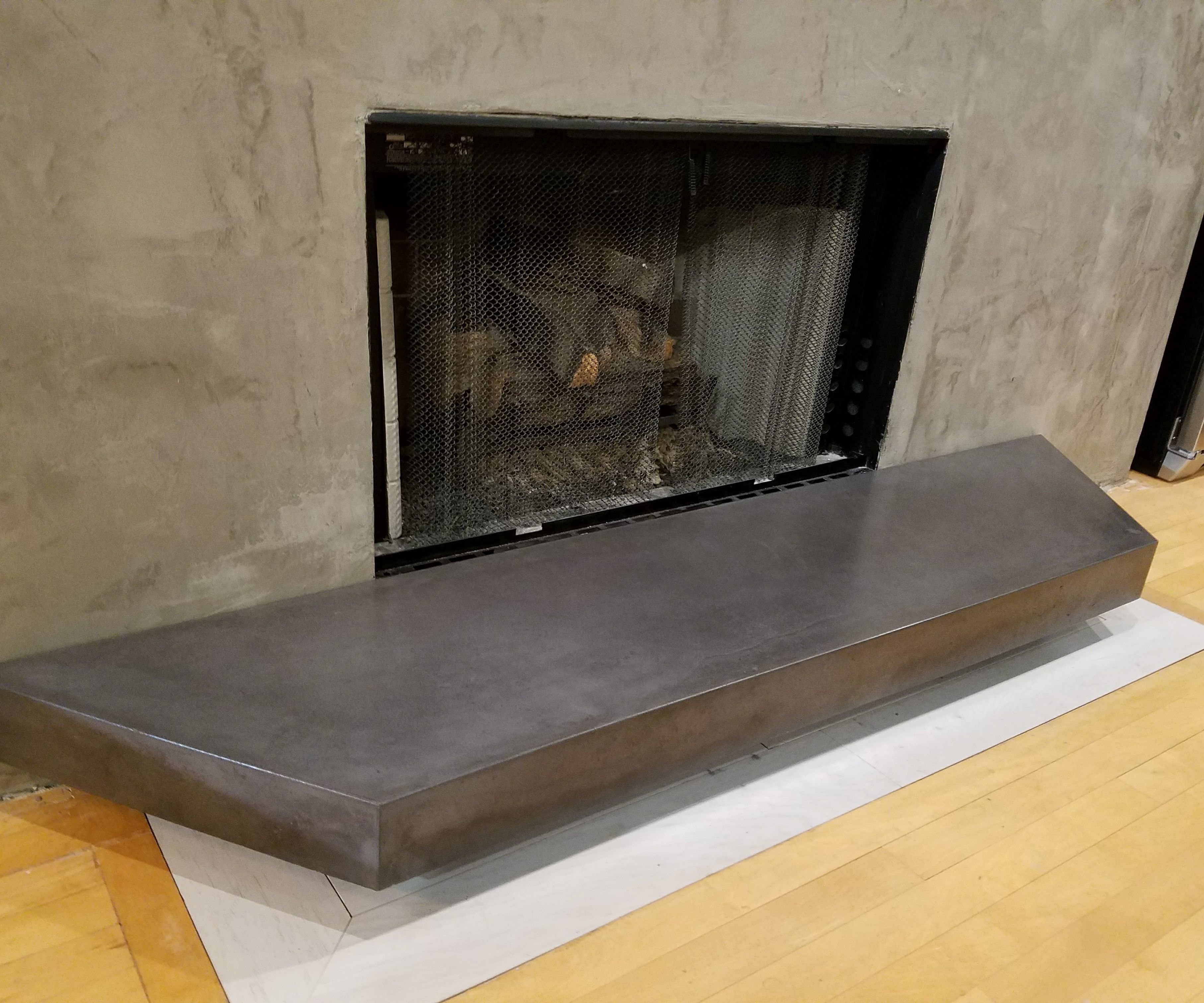Gfrc Floating Concrete Hearth For Concrete Wood Fireplace 7