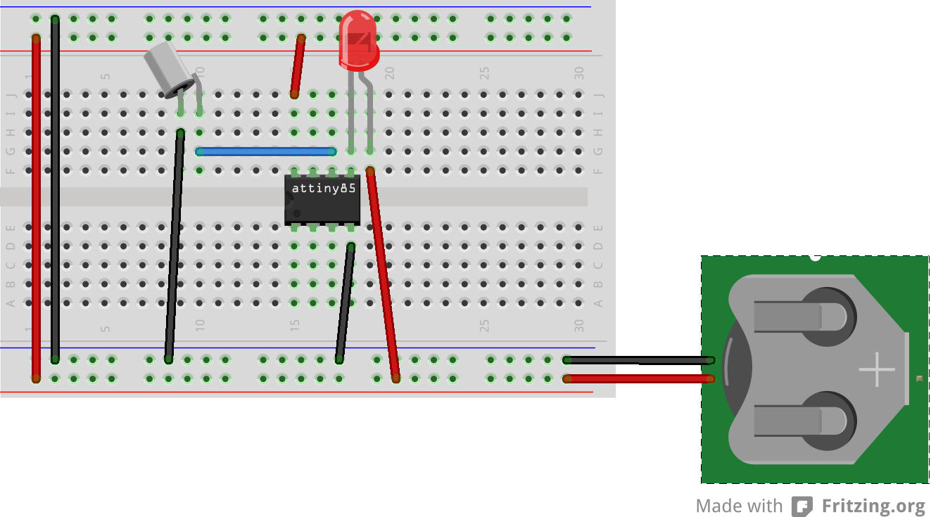 Picture of Testing the AtTiny85 Based Circuit