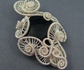 Carnival Pendant - Wire Weave Tutorial - Weaving Swirl Shapes