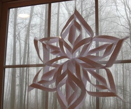 Super-cool easy 6 pointed snowflake