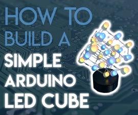 Simple Arduino RGB LED Cube (3x3x3)
