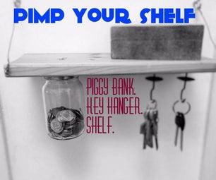 Shelf Re-Invented - Piggy Bank & Key Hanger.